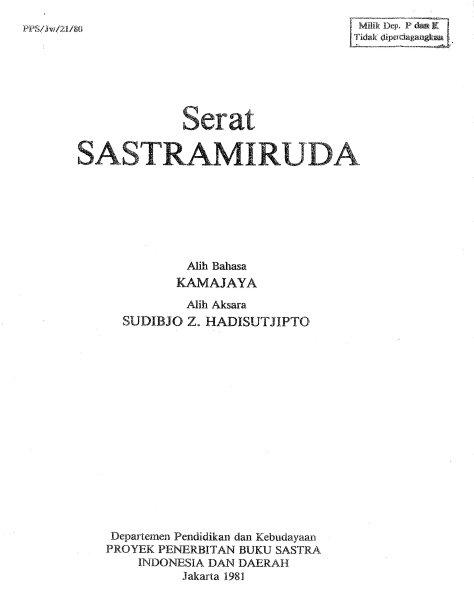 Cover Sastramiruda