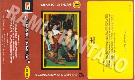 ACD099 Klenengan Gobyog - Opak Apem