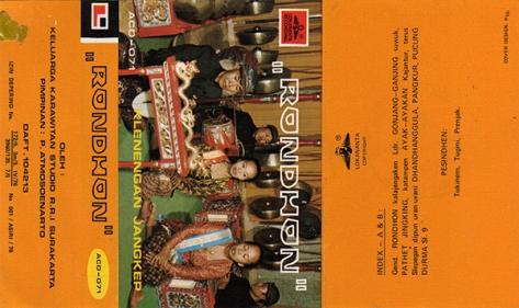 ACD071 Klenengan Jangkep - Rondhon Depan All