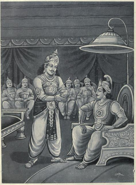Duryodhana_pleads_with_Shalya_to_become_Karna's_charioteer